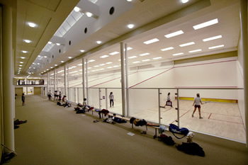 exeter squash courts